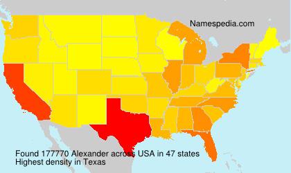 Surname Alexander in USA