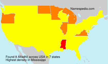 Surname Alfadhli in USA
