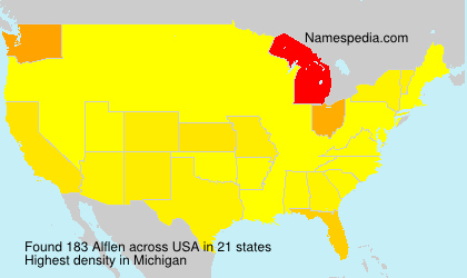 Surname Alflen in USA