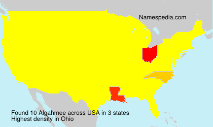 Surname Algahmee in USA