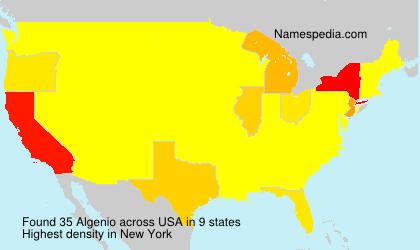 Familiennamen Algenio - USA