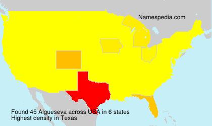 Familiennamen Algueseva - USA