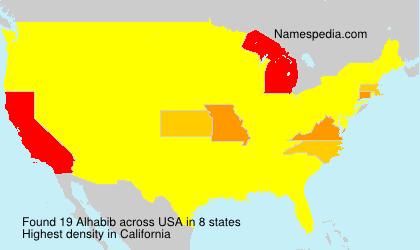 Familiennamen Alhabib - USA