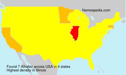 Surname Alhafez in USA