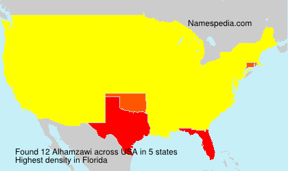 Surname Alhamzawi in USA
