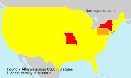 Surname Alhiyari in USA