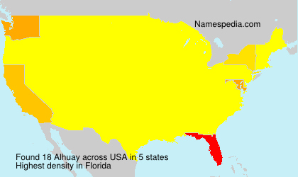 Surname Alhuay in USA
