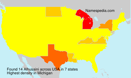 Familiennamen Alhusaini - USA