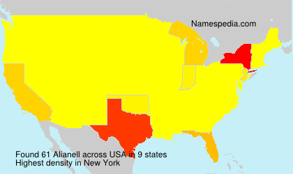 Surname Alianell in USA