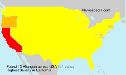 Surname Aliangan in USA