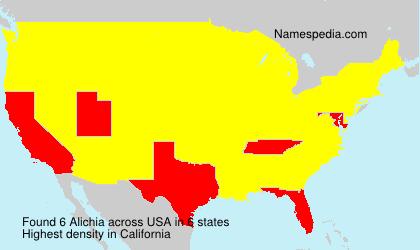 Familiennamen Alichia - USA