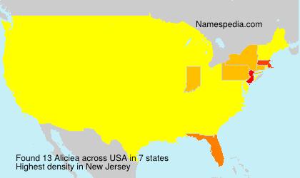 Surname Aliciea in USA