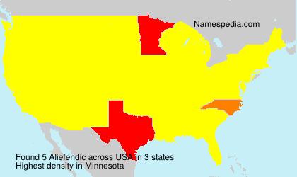 Familiennamen Aliefendic - USA
