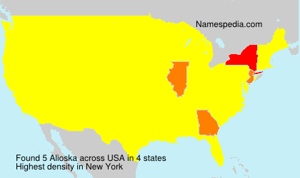 Surname Alioska in USA