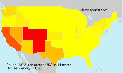 Familiennamen Alires - USA