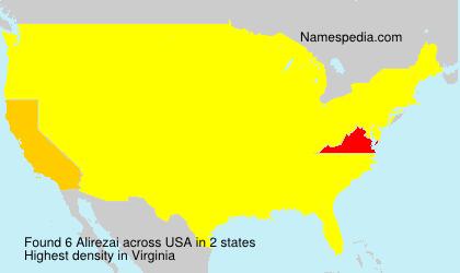 Surname Alirezai in USA