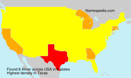 Surname Aliver in USA