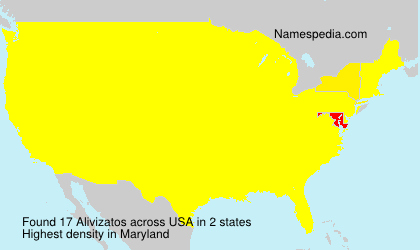 Surname Alivizatos in USA