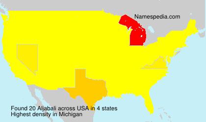 Surname Aljabali in USA