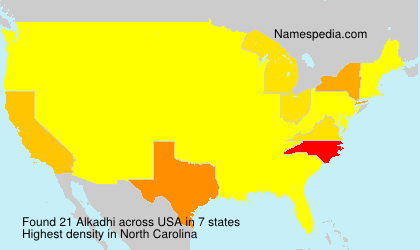 Surname Alkadhi in USA