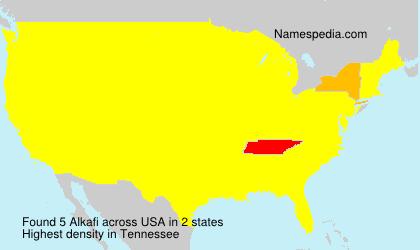 Surname Alkafi in USA
