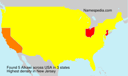 Surname Alkawi in USA