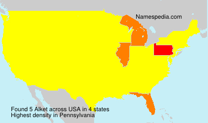 Surname Alket in USA