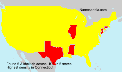 Surname Alkhalifah in USA