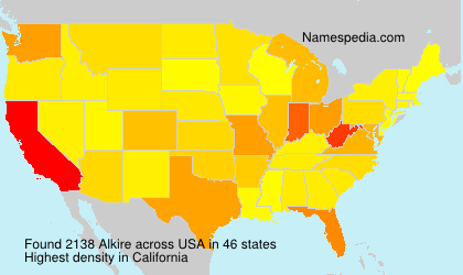 Surname Alkire in USA