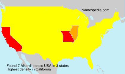 Surname Alkordi in USA