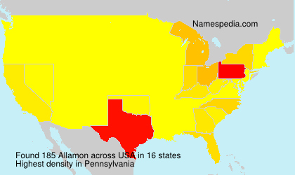 Surname Allamon in USA