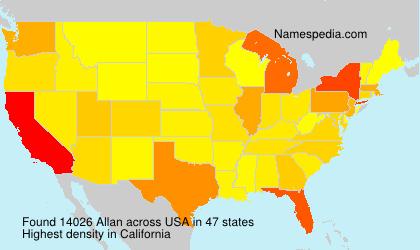 Surname Allan in USA