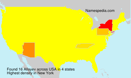 Surname Allayev in USA