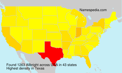Surname Allbright in USA