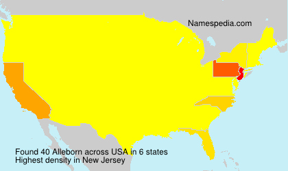 Surname Alleborn in USA