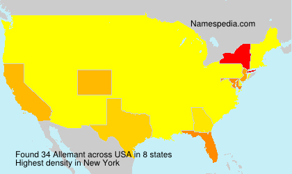 Surname Allemant in USA