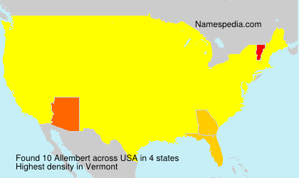 Surname Allembert in USA