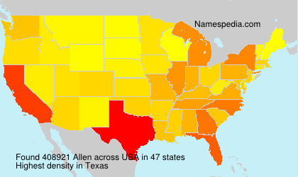 Surname Allen in USA