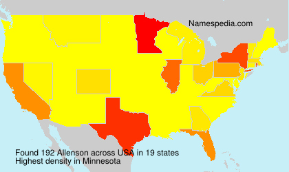 Surname Allenson in USA