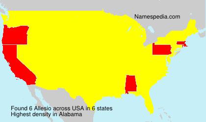 Familiennamen Allesio - USA