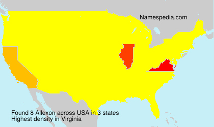 Surname Allexon in USA