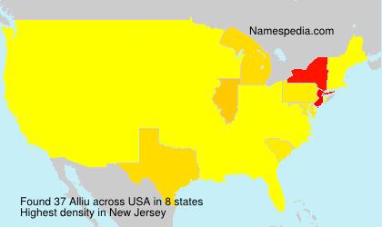 Surname Alliu in USA