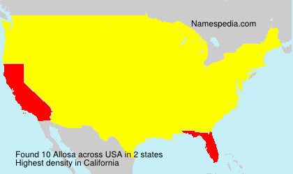 Surname Allosa in USA