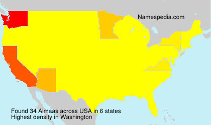 Familiennamen Almaas - USA