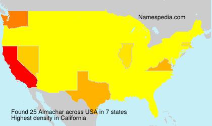 Familiennamen Almachar - USA