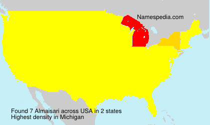 Surname Almaisari in USA