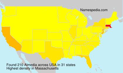 Surname Almedia in USA