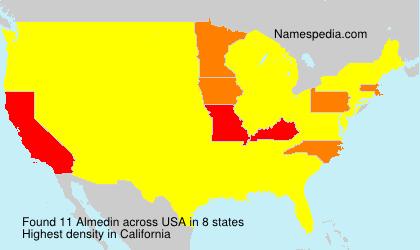 Surname Almedin in USA