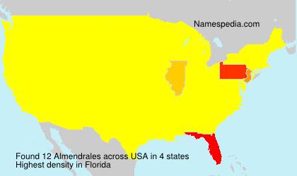 Surname Almendrales in USA