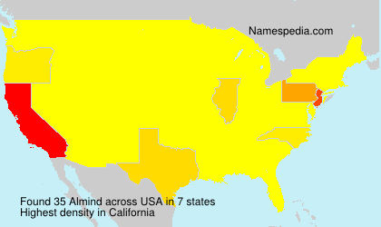 Surname Almind in USA